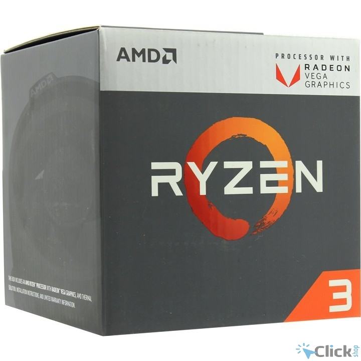 CPU AMD Ryzen 3 2200G BOX {3.5-3.7GHz, 4MB, 65W, AM4, RX Vega Graphics}