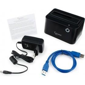 """Gembird HD32-U3S-4 Докстанция 2.5"""" /<wbr>3.5"""" черный, USB 3.0, SATA, HDD/<wbr>SSD"""