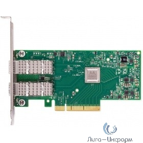 Mellanox ConnectX-4 Lx EN network interface card, 10GbE dula-port SFP+, PCIe3.0 x8, tall bracket, ROHS R6 (MCX4121A-XCAT)
