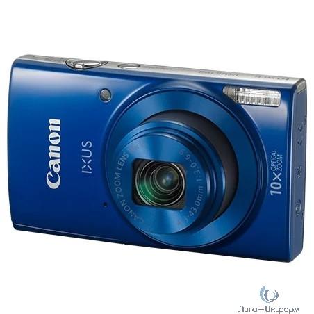 """Canon IXUS 190 синий {20Mpix Zoom10x 2.7"""" 720p SDXC CCD 1x2.3 IS opt 1minF 0.8fr/s 25fr/s/WiFi/NB-11LH}"""