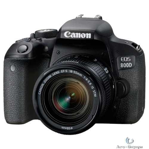 "Canon EOS 800D черный {24.2Mpix EF-S 18-55mm f/4-5.6 IS STM 3"" 1080p Full HD SDXC Li-ion (с объективом)}"
