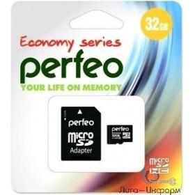 Micro SecureDigital 32Gb Perfeo PF32GMCSH10AES {MicroSDHC Class 10, SD adapter}