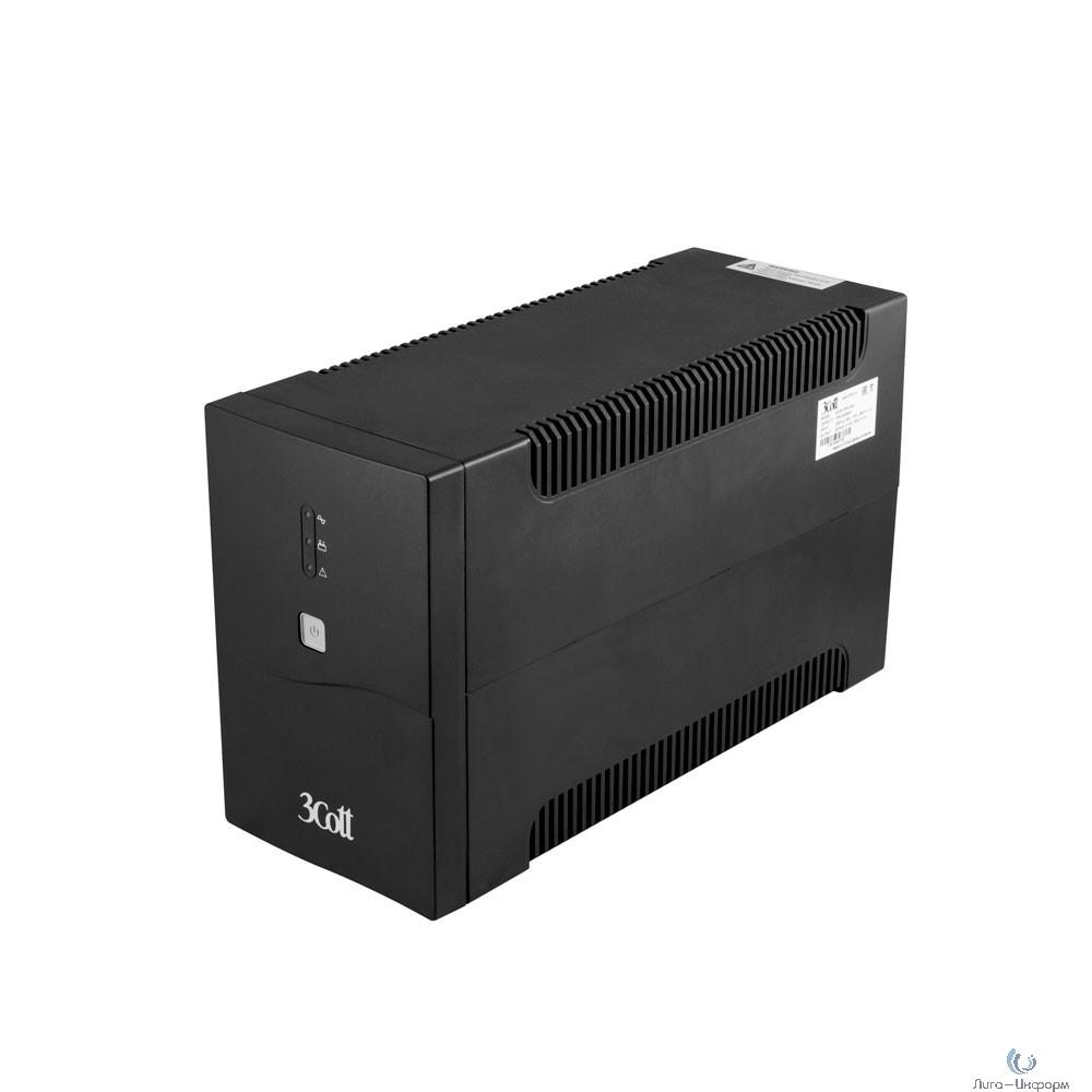 3Cott ИБП 3Cott-1500-CNL Connect Line 1500VA/900W USB,AVR,RJ11,RJ45 (4 Euro+2 IEC) {0509786}