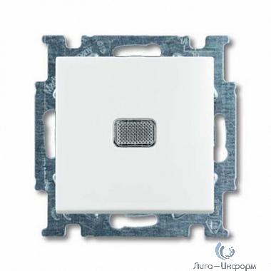 ABB 1012-0-2153 Выключатель с клавишей, 1-клавишный, с подсветкой, Basic 55, альпийский белый