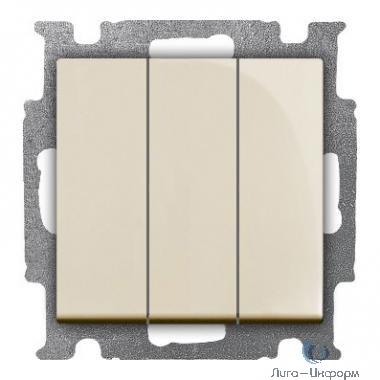 ABB 1012-0-2158 Выключатель с клавишей, 3-клавишный, 16 A, Basic 55, слоновая кость