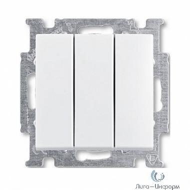 ABB 1012-0-2155 Выключатель с клавишей, 3-клавишный, 16A, Basic 55, альпийский белый