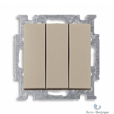 ABB 1012-0-2163 Механизм 3-клавишного, 1-полюсного выключателя, с клавишей, 16 А / 250 В, серия Basic 55, цвет шампань