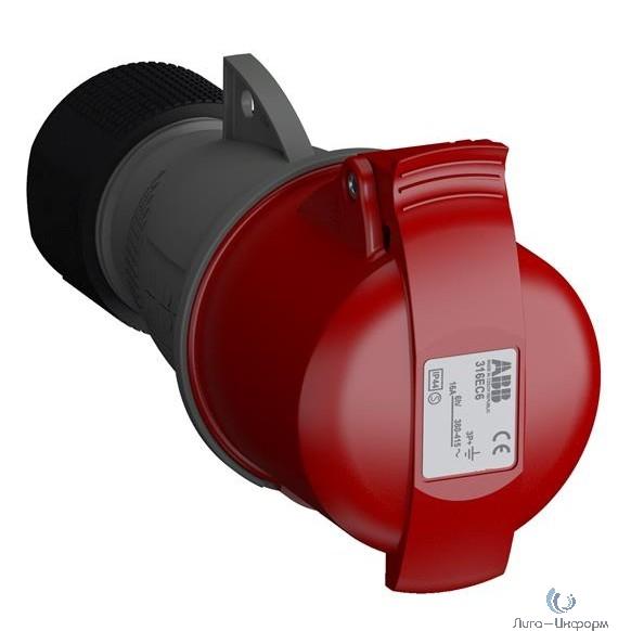 ABB 2CMA102012R1000 Розетка кабельная Easy&Safe 316EC6,16А,3P+E,IP44,6ч