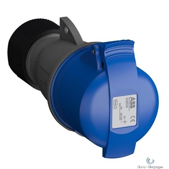 ABB 2CMA102031R1000 Розетка кабельная Easy&Safe 232EC6,32А,2P+E,IP44,6ч
