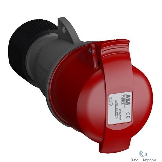 ABB 2CMA102051R1000 Розетка кабельная Easy&Safe 432EC6,32А,3P+N+E,IP44,6ч