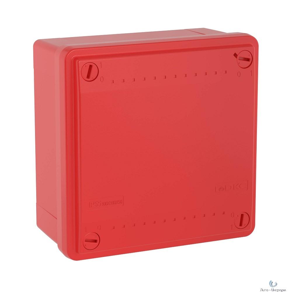Dkc 53811 Коробка ответвит. с гладкими стенками,  IP56, 100 х 100 х 50мм,цвет красный