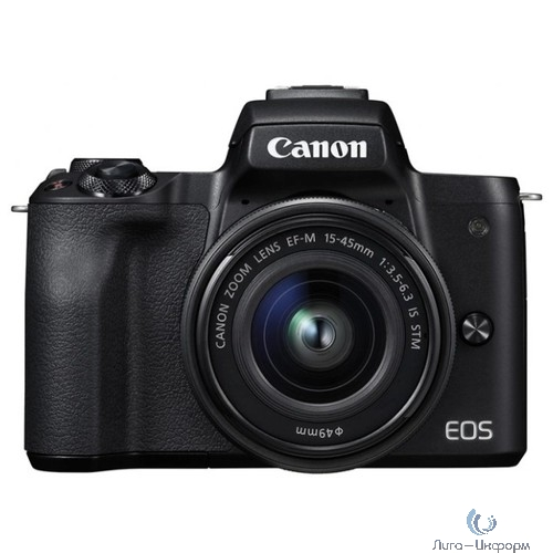 "Canon EOS M50 черный {24.2Mpix 3"" 4K WiFi 15-45 IS STM LP-E12}"