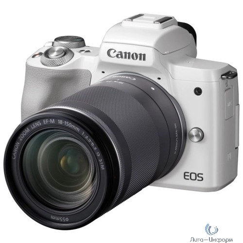 "Canon EOS M50 белый {24.1Mpix 3"" 4K WiFi 15-45 IS STM LP-E12}"