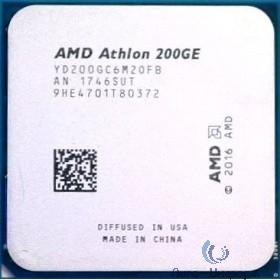 CPU AMD Athlon 200GE OEM (YD200GC6M2OFB) {3.2 GHz/2core/1+4Mb/SVGA RADEON Vega 3/35W/Socket AM4}