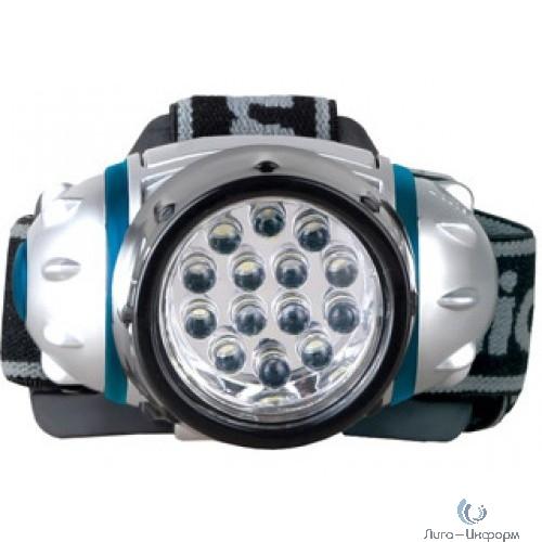 Camelion LED5312-14F4 (фонарь налобн, металлик, 14LED, 4 реж, 3XR03 в компл, пласт, блист)