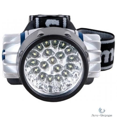 Camelion LED5323-19Mx (фонарь налобн, металлик,19 ультра ярк LED, 4 реж, 3XR03 в компл, пласт, блис)