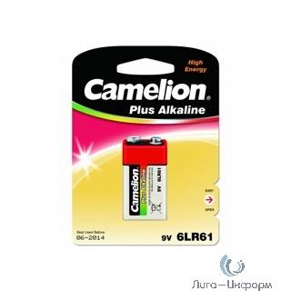Camelion 6LF22 Plus Alkaline BL-1 (6LR61-BP1, батарейка,9В) (1 шт. в уп-ке)