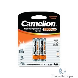 Camelion  AA-2600mAh Ni-Mh BL-2 (NH-AA2600BP2, аккумулятор,1.2В)