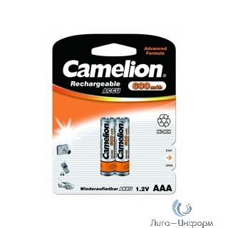 Camelion   AAA- 600mAh Ni-Mh BL-2 (NH-AAA600BP2, аккумулятор,1.2В) (2 шт. в уп-ке)