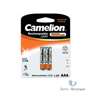 Camelion   AAA-1000mAh Ni-Mh BL-2 (NH-AAA1000BP2, аккумулятор,1.2В) (2 шт. в уп-ке)