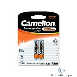 Camelion   AAA-1100mAh Ni-Mh BL-2 (NH-AAA1100BP2, аккумулятор,1.2В) (2 шт. в уп-ке)