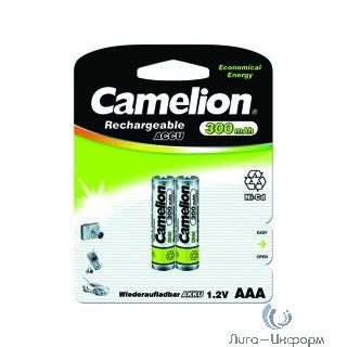 Camelion   AAA- 300mAh Ni-Cd BL-2 (NC-AAA300BP2, аккумулятор,1.2В)
