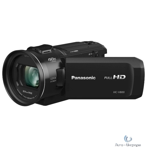 Видеокамера Panasonic HC-V800EE-K, Wi-Fi, FULL HD, SD видеокамера, чёрный