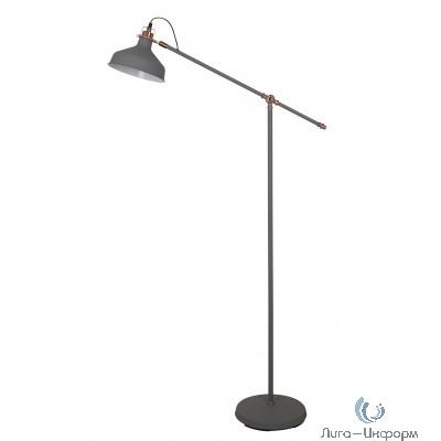 Camelion KD-425F  С73  серый + медь (Светильник напольный Amsterdam, 1х E27, 40Вт, 230В, металл)