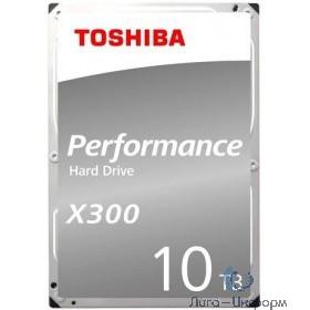 """10TB Toshiba X300 (HDWR11AUZSVA) {SATA 6.0Gb/s, 7200 rpm, 256Mb buffer, 3.5""""}"""