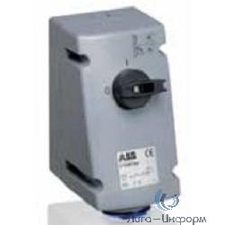 ABB 216 MVS6 Розетка с выключателем и механической блокировкой 216MVS6, 16A, 2P+E, IP44, 6ч