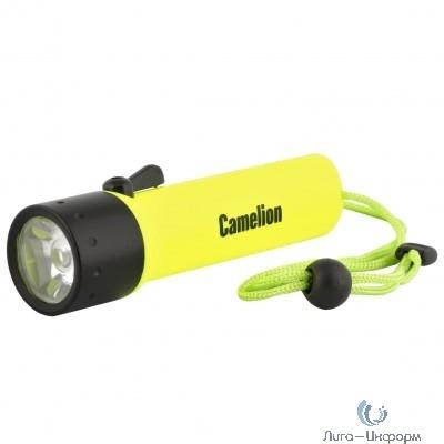 Camelion LED51513R (фонарь, желт, LED3WCREE  глуб 30м, 4xLR6 в комп, дайв, пласт+алюм., блистер)