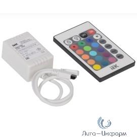 Iek LSC2-RGB-072-IR-20-12-W Контроллер с ПДУ ИК RGB 3 канала 12В, 2А, 72Вт IEK-eco