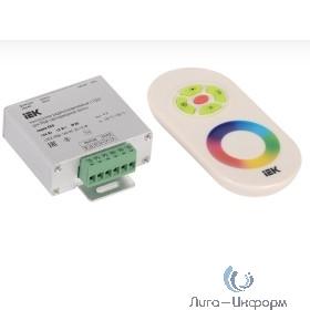 Iek LSC2-RGB-144-RF-20-12-W Контроллер с ПДУ радио (белый) RGB 3 канала 12В, 4А, 144Вт IEK-eco
