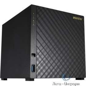 Asustor AS3204T Сетевое хранилище 4 bay, Tower, 2GB DDR3L, Intel Celeron Quad-Core, 2GB DDR3L, GbE x1, USB 3.0, WoL, System Sleep Mode, AES-NI hardware encryption