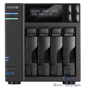 Asustor AS6204T Сетевое хранилище 4-Bay, Intel Celeron Quad-Core, 4 GB SO-DIMM DDR3L, GbE x 2, USB 3.0 & eSATA, WoL, System Sleep Mode, AES-NI hardware encryption,with lockable tray