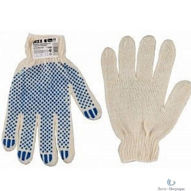 DEXX Перчатки трикотажные, 7 класс, х/б, обливная ладонь [114001]