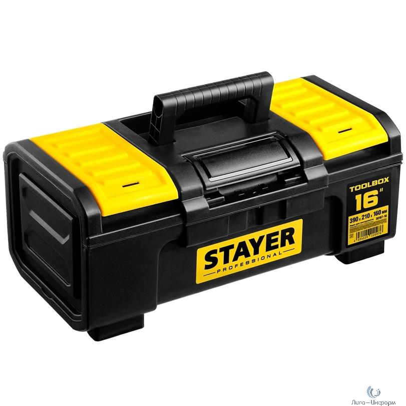 """STAYER Ящик для инструмента """"TOOLBOX-16"""" пластиковый, Professional [38167-16]"""