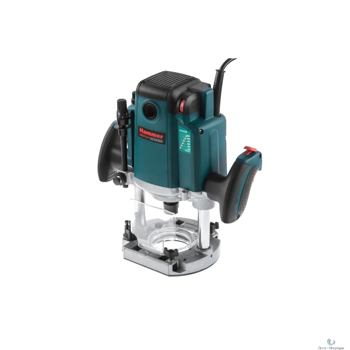 Hammer FRZ2200 Premium Фрезер [439353] { 2200Вт 9000-22000об/мин, 6-12мм, ход 75 мм }