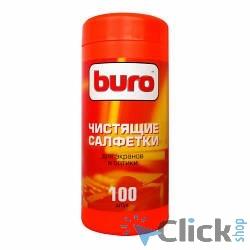 BURO BU-Tscreen [817439] Туба с чистящими салфетками, для экранов и оптики, 100шт.