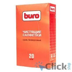 BURO BU-Udry [817443] Сухие чистящие салфетки, безворсовые, 20шт.