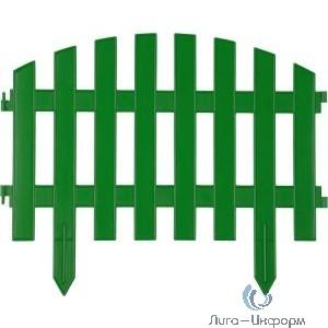 "Забор декоративный GRINDA ""АР ДЕКО"", 28x300 см, зеленый [422203-G]"