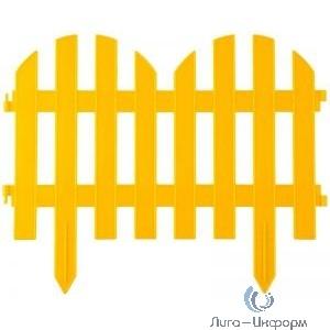"""Забор декоративный GRINDA """"ПАЛИСАДНИК"""", 28x300 см, желтый [422205-Y]"""