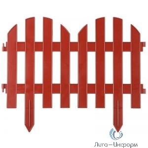 """GRINDA Забор декоративный """"ПАЛИСАДНИК"""", 28x300 см, терракот [422205-T]"""