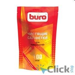 BURO BU-ZSURFACE [817447] Запасной блок к тубе с чистящими салфетками для поверхностей, 100шт.