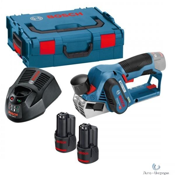 Bosch GHO 12V-20 Рубанок.аккумуляторный [06015A7001] { 12 B, 14 500 об/мин, L-BOXX }