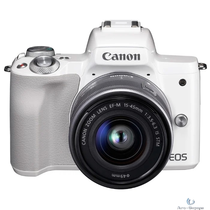 "Canon EOS M50 белый {24.1Mpix 3"" 4K WiFi 18-150 IS STM LP-E12 (с объективом)}"