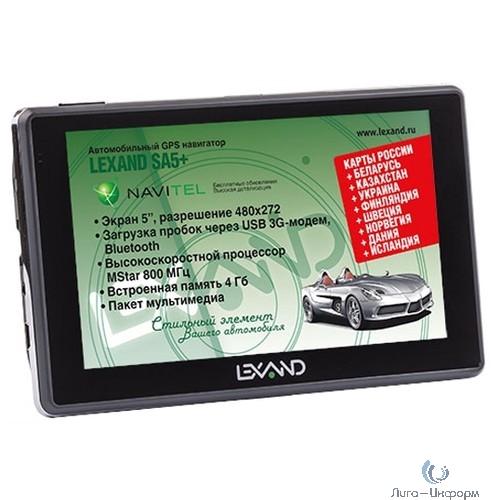 """LEXAND SA5+ (5"""" 480*272, 800Mhz, BT, 3G через OTG, Навител 9 стран)"""