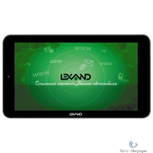 "LEXAND SB7 HD {7"" 1024*600, GPS, 512Мб/8Гб, 4 ядра, OS 4.4, DVR 720P, Прогород Россия + 60 стран} черный"