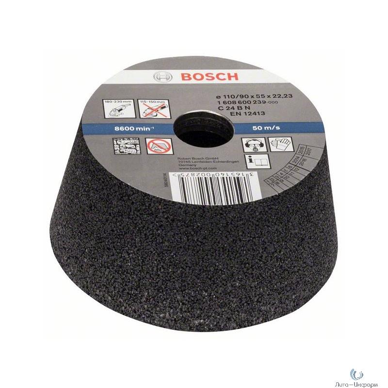 Bosch 1608600239 КОНУСНЫЙ ЧАШЕЧНЫЙ ШЛИФКРУГ 110MM K24 КАМ