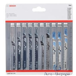 Bosch 2607011170 Набор лобзиковых пилок 10шт Wood&Metal
